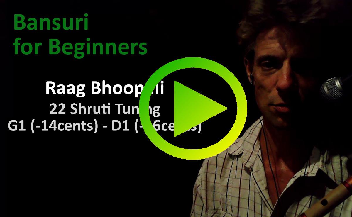 Raag Bhoopali (Bhupali) in A (434Hz) and 22 shruti tuning